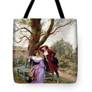 Flirtation Tote Bag by Georges Jules Auguste Cain