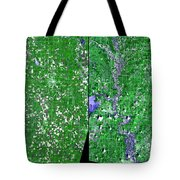 Flooding In Kansas Tote Bag by Nasa