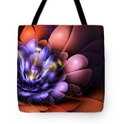 Floral Flame Tote Bag by John Edwards