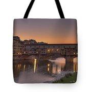 Florence - Ponte Vecchio Tote Bag by Joana Kruse