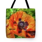 Flower - Poppy - Orange Poppies  Tote Bag by Mike Savad
