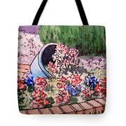 Flower Bed Sketchbook Project Down My Street Tote Bag by Irina Sztukowski