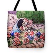 Flower Bed Sketchbook Project Down My Street Tote Bag by Irina Sztukowski