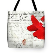 Flower Love Letter Tote Bag by adSpice Studios