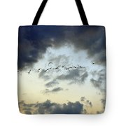 Flying South For The Winter Tote Bag by Paul Ward