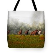 Foggy Morning Tote Bag by Susan Candelario