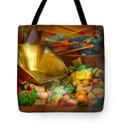 Food - Candy - One Scoop Of Candy Please  Tote Bag by Mike Savad