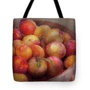 Food - Peaches - Farm Fresh Peaches  Tote Bag by Mike Savad