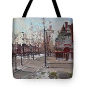 Four Corners At Bidwell Parkway Tote Bag by Ylli Haruni