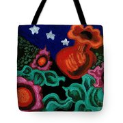 Fowers At Night Tote Bag by Genevieve Esson