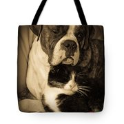 Friendship Is The Greatest Gift Of All Greeting Tote Bag by DigiArt Diaries by Vicky B Fuller