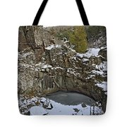 Frozen Sink Hole Tote Bag by Roderick Bley