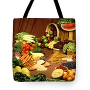 Fruit And Grain Food Group Tote Bag by Photo Researchers