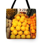 Fruit Market - Painterly - 7D17401 Tote Bag by Wingsdomain Art and Photography