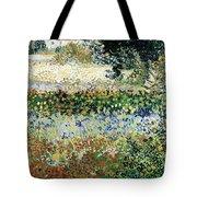 Garden In Bloom Tote Bag by Vincent Van Gogh