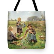 Gathering Flowers Tote Bag by Joseph Julien