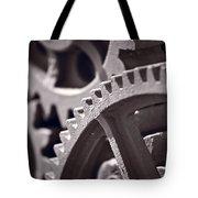 Gears Number 3 Tote Bag by Steve Gadomski