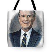 George H.w. Bush (1924-    ) Tote Bag by Granger