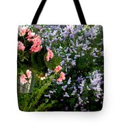 Geranium And Lilac Painting Tote Bag by Will Borden