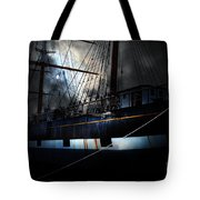 Ghost Ship of The San Francisco Bay . 7D14153 Tote Bag by Wingsdomain Art and Photography