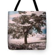 Giant Tree In City Tote Bag by Hag