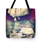 Girl In Abandoned Room Tote Bag by Jill Battaglia