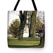 Girl In Autumn Tote Bag by Joana Kruse