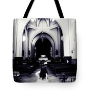 Girl In The Church Tote Bag by Jenny Rainbow