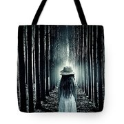 Girl In The Forest Tote Bag by Joana Kruse