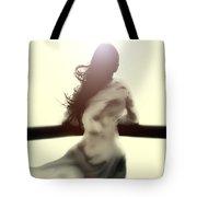 Girl In White Dress Tote Bag by Joana Kruse