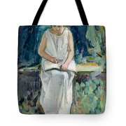 Girl Reading Tote Bag by Henri Lebasque