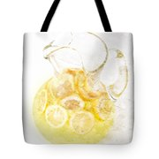 Glass Pitcher Of Lemonade Tote Bag by Andee Design