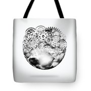 Globe With Cogs And Gears Tote Bag by Setsiri Silapasuwanchai