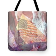 God Bless The Usa Tote Bag by Cheryl Young