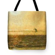 Golden Day Painterly Tote Bag by Ernie Echols