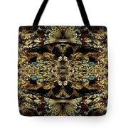 Golden Split Crop Tote Bag by Peggi Wolfe