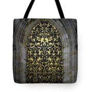 Golden Window - St Vitus Cathedral Prague Tote Bag by Christine Till