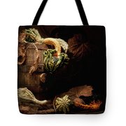Gourds And Leaves Still Life Tote Bag by Tom Mc Nemar