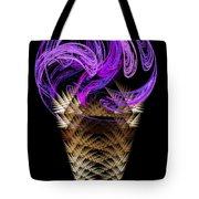 Grape Ice Cream Cone Tote Bag by Andee Design