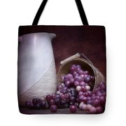 Grapes With Pitcher Still Life Tote Bag by Tom Mc Nemar