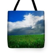 Grassy Field, Ireland Tote Bag by The Irish Image Collection