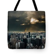 Great Skies Over Manhattan Tote Bag by Hannes Cmarits