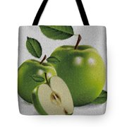 Green Apples Tote Bag by Cheryl Young