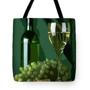 Green Is White Tote Bag by Elaine Plesser