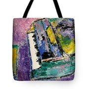 Green Piano Side View Tote Bag by Anita Burgermeister