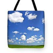 Green Rolling Hills Under Blue Sky Tote Bag by Elena Elisseeva