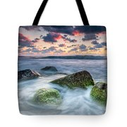 Green Stones Tote Bag by Evgeni Dinev