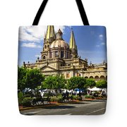 Guadalajara Cathedral Tote Bag by Elena Elisseeva