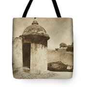 Guard Post Castillo San Felipe Del Morro San Juan Puerto Rico Vintage Tote Bag by Shawn O'Brien