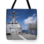 Guided-missile Destroyer Uss Pinckney Tote Bag by Stocktrek Images